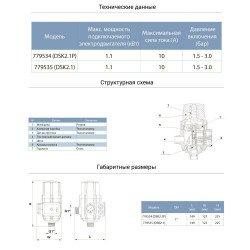 """Автоматика для насоса (1.1кВт Ø1"""") контроллер давления электронный (авт поиск воды + рег давл вкл 1.5-3.0 bar) AQUATICA (779534)"""