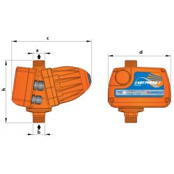 Электронный контроллер давления Pedrollo EASY PRESS II (с манометром, старт 2,2 бар)