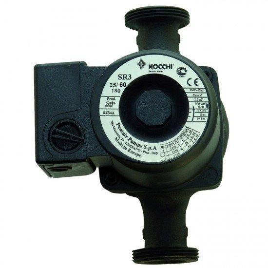 Циркуляционный насос Nocchi SR3 25-60/180 мм с гайками, гарантия 24 месяца EuroAqua