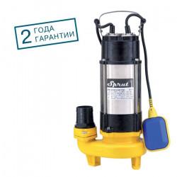 Фекальный насос Sprut V750F(1100вт+350л/мин+напор:11м+обмотка:медь)+24мес.гарант.