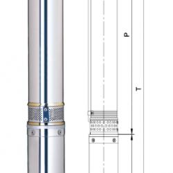 насос для скважины глубинный (0.37кВт Н 56м 55л/мин Ø96мм) центробежный Aquatica DONGYIN 4SDm2/8  (777121)