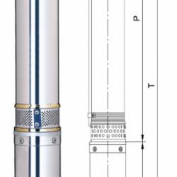 Насос скважинный Aquatica 4SDm6/26(трехфазный)3кВт Н 176 140л/мин Ø96мм (Код товара: 7771453)