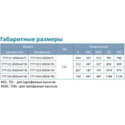 Насос Aquatica (0.55 кВт, напор: 49 м, производит: 100 л/мин, Ø96 мм) центробежный погружной DONGYIN 4SDm4/7 (777131)