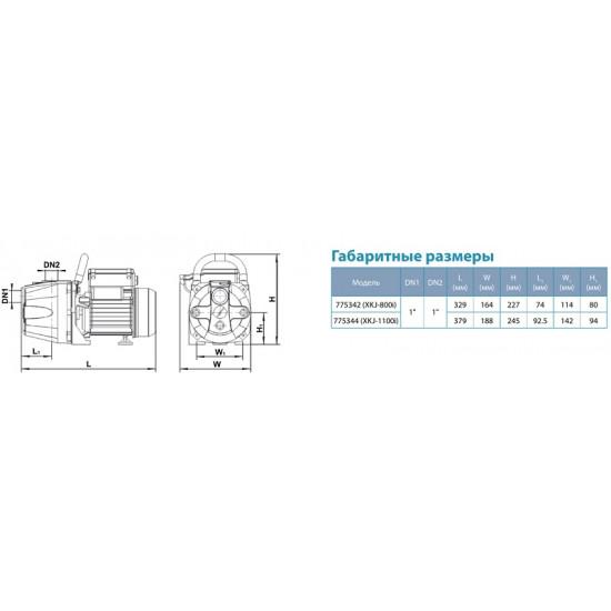 XKJ-800i-775342 (800 Вт - 60 л/мин - напор: 36 м) Aquatica насос центробежный самовсасывающий
