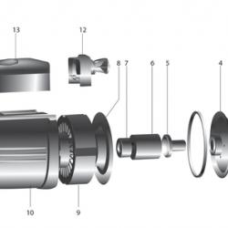 """Повышающий насос """"SPRUT"""" GPD 15-12А,+гайки (270 Вт, напор: 13 м, производит: 58 л/мин)"""